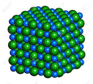 Sodium chloride (rock salt, halite, table salt), crystal structu